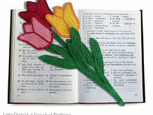 044 Crochet Pattern - Tulip flower bookmark or decor - Amigurumi PDF file by Zabelina CP