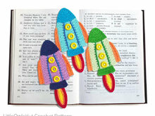 074 Crochet Pattern - Rocket bookmark or decor - Amigurumi PDF file by Zabelina CP