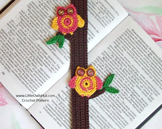 047 Crochet Pattern - Owls bookmark or decor - Amigurumi PDF file by Zabelina CP