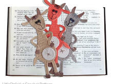 063 Crochet Pattern - Goat bookmark or decor - Amigurumi PDF file by Zabelina CP