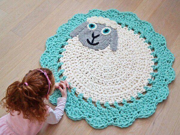 Hakelanleitung Teppich Schaf Aus Schafwolle