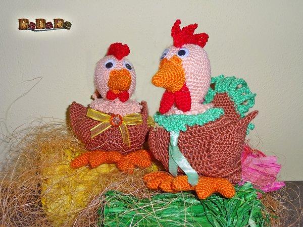 Osterkalender Oder Dekoration Huhn Und Hahn Gehäkelt Von Dadade