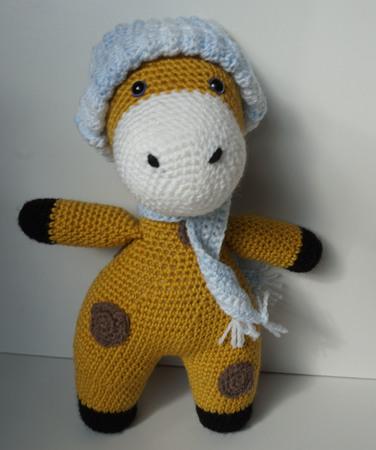 Häkelanleitung Kleidung für die Giraffe Giraffi: Mütze, Schal ♥