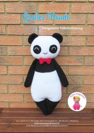 Großer Panda Amigurumi Häkelanleitung