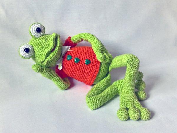 Häkelanleitung Fridolin Frosch | Frosch häkeln, Häkeln anleitung ... | 450x600