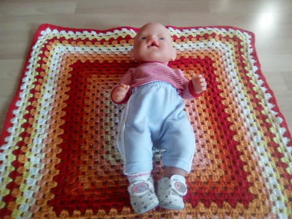 Häkelanleitung Babydecke \