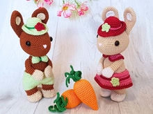 Bunnies Hugo and Hetti - Amigurumi Crochet Pattern