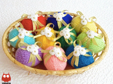 185 Knitting Pattern - Eggs for Easter - Decor - by Zabelina CP