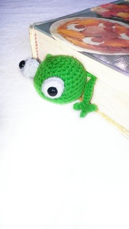 Pattern frog Book Marker PDF english-deutsch
