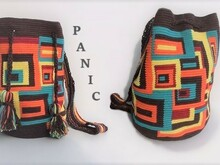 Retro Look Tapestry Mochila