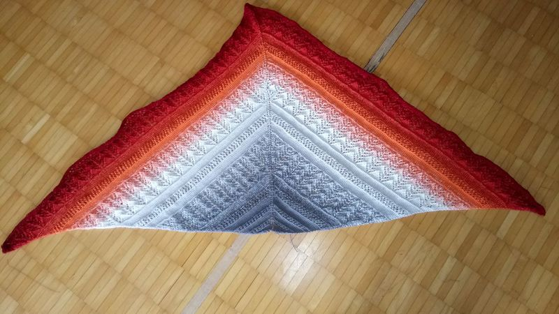"Strickanleitung - Tuch ""Sunset"""