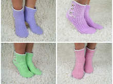 Crochet pattern house socks, slippers