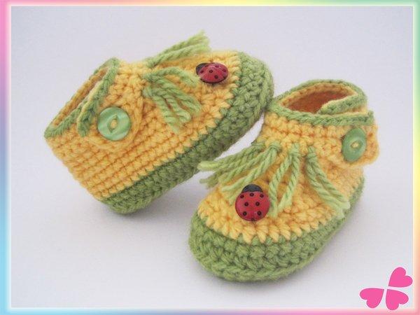 Kinder Schuhe Häkeln 4 Größen 20 21 22 23