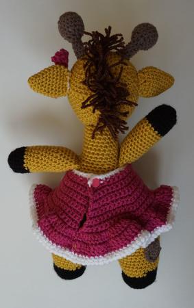 Häkelanleitung Kleidung für die Giraffe Giraffi: Kleid, Schleife ♥