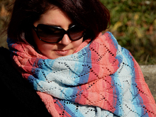 "Rectangle lace stole knitting pattern ""Faro"""
