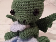 Crochetpattern Dragon kilian with blanket