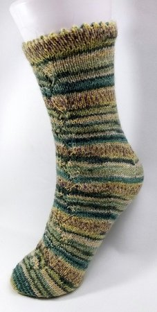 Strickanleitung Quicky Socke Top Down mit Ajourmuster 4.0 Gr.32-49