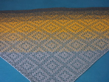 "Triangular Shawl ""Rhombuses"" crochet pattern"