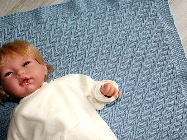 strickanleitung babydecke plaid wagendecke strukturmuster f r anf nger geeignet. Black Bedroom Furniture Sets. Home Design Ideas