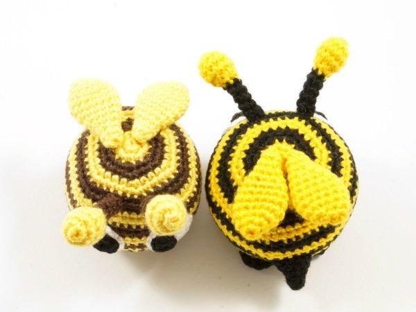 Witzige Biene - Häkelanleitung