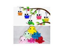 2 Pattern OWL Keychain AND MINI OCTOPUS!!! E-Book english-Deutsch-dutch