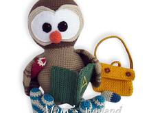 Samuel Owl the Ami - Amigurumi Crochet Pattern