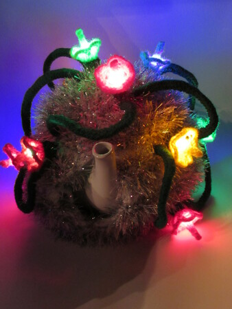 Christmas Tinsel and Fairy Lights Tea Cosy