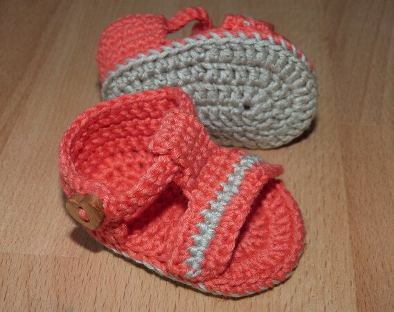 Crochet pattern for doll's sandals and ballet flats (ballerinas)