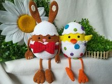Egg, in another way! Bunny & Chick - crochet pattern