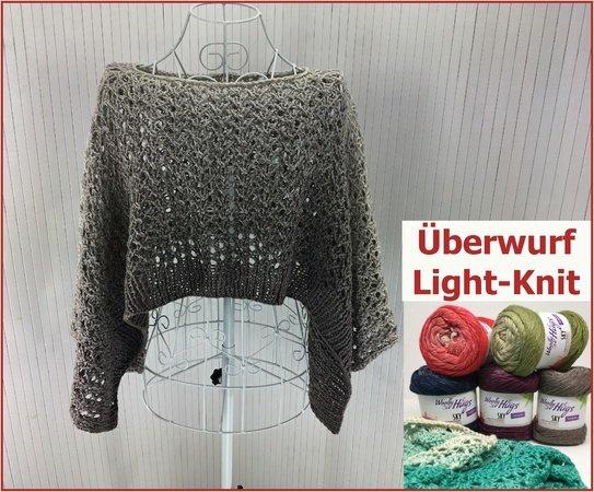 Überwurf Light-Knit mit SKY von Woolly Hugs stricken