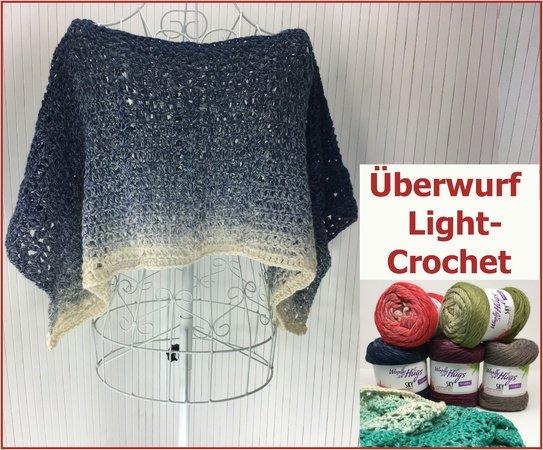überwurf Light Crochet Mit Sky Von Woolly Hugs Häkeln