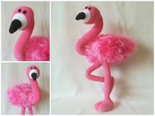 Pablo, the flamingo - crochet pattern
