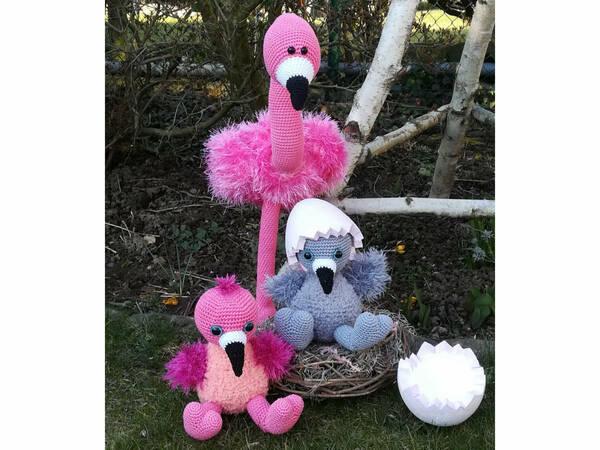 Flamingo Set - Häkelanleitungen