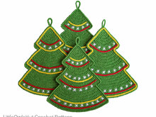 087 Crochet Pattern - Christmas tree Potholder or decor  - Amigurumi PDF file by Zabelina CP