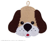 161 Crochet Pattern - Dog Potholder or decor  - Amigurumi PDF file by Zabelina CP