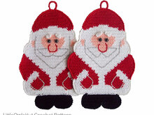 039 Crochet Pattern - Santa Claus Potholder or decor - Amigurumi PDF file by Zabelina CP