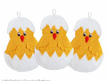 112 Crochet pattern - Little Chicken Potholder or decor  - Amigurumi PDF file by Zabelina CP
