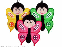 145 Crochet Pattern - Butterfly Potholder or decor  - Amigurumi PDF file by Zabelina CP