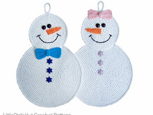 038 Crochet Pattern - Snowman Potholder or decor  - Amigurumi PDF file by Zabelina CP