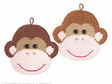 080 Crochet Pattern - Monkey Potholder or decor  - Amigurumi PDF file by Zabelina CP