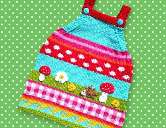Knitting Tutorial Baby Dress in 2 Sizes