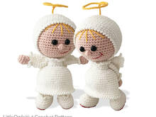 177 Crochet Pattern - Girl Doll in an Angel outfit - Amigurumi PDF file by Stelmakhova CP