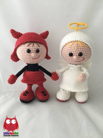 Lovely Angel crochet pattern - Amigurumi Today | 450x338
