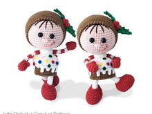 172 Crochet Pattern - Girl Doll in a Christmas Muffin outfit - Amigurumi PDF file by Stelmakhova CP
