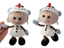 130 Crochet Pattern - Girl doll in a Snowman outfit - Amigurumi PDF file by Stelmakhova CP