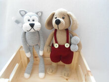 Lovely pet crochet pattern ( cat and puppy)