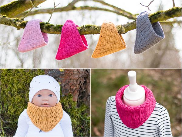 Häkelanleitung Basic Halstuch für Babys und Kinder