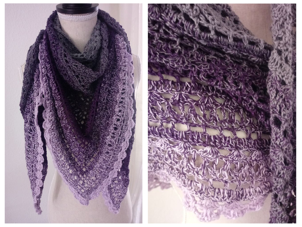 "Crochet pattern: Shawl ""Calluna"" - super breezy and frisky"
