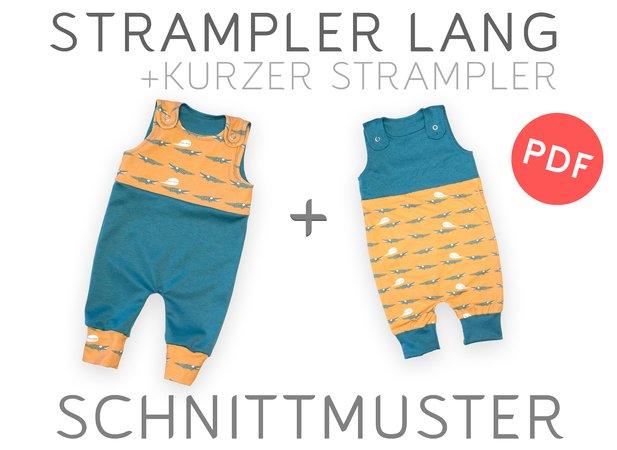 Strampler Gr. 50-86 – Schnittmuster & Nähanleitung - Baby Kind - PDF