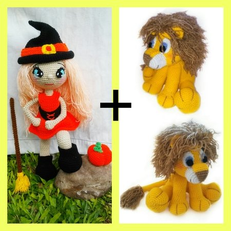 2 pattern Annie, the little witch   jack, the lion!!! PDF english-deutsch-dutch